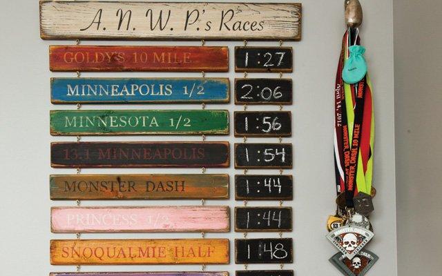Custom sign by Chrissy Harder, found at Run + Fun in Bu...