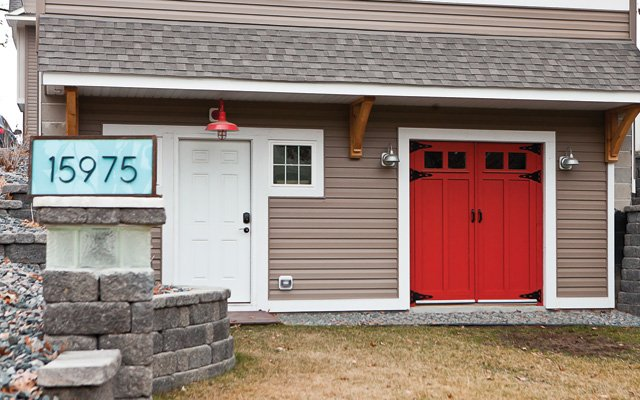 The lower level of the garage is Glen's workshop.