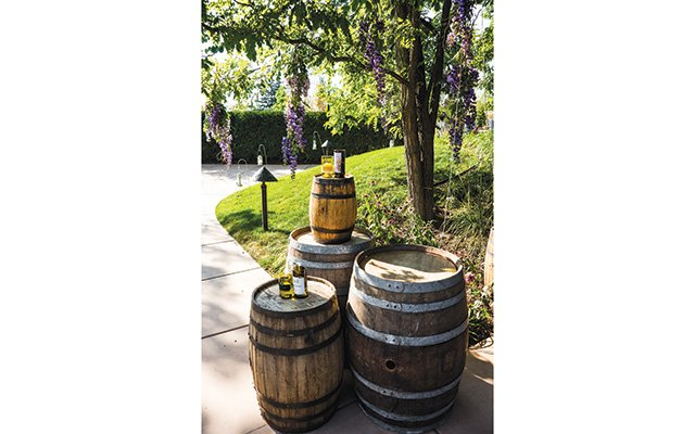 Barrels, which doubled as tables