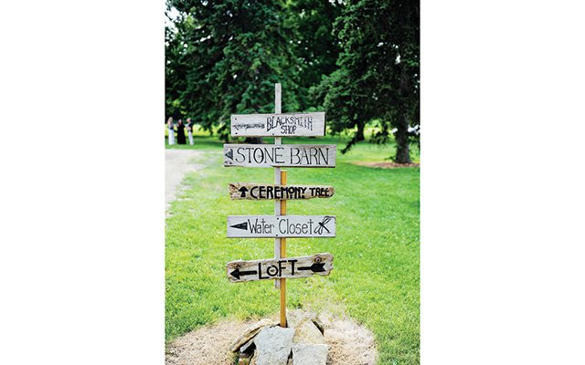 Direction signs for the grounds