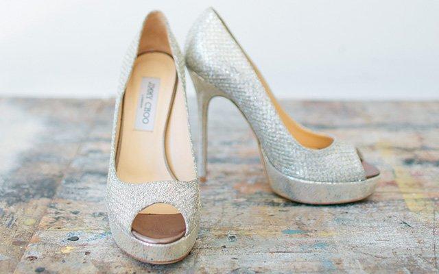 The bride's shoes