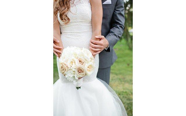The bride's bouquet.