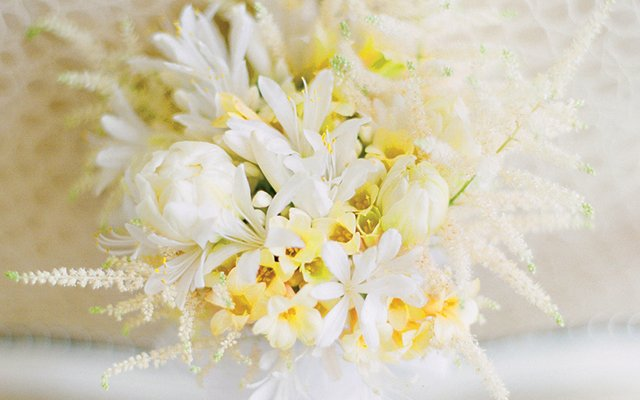The bride's petite bouquet