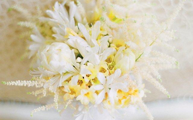 The bride's petite bouquet