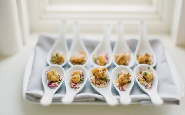 bite-sized fried oysters
