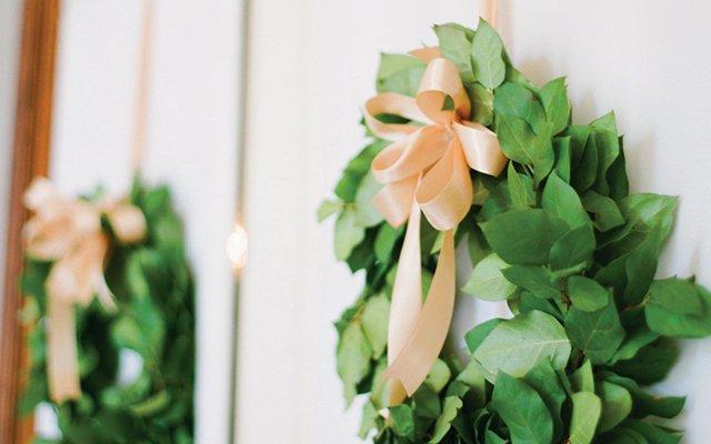 Lemon leaf wreaths