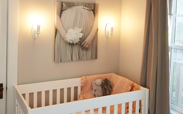 Amanda Kautt nursery with baby crib
