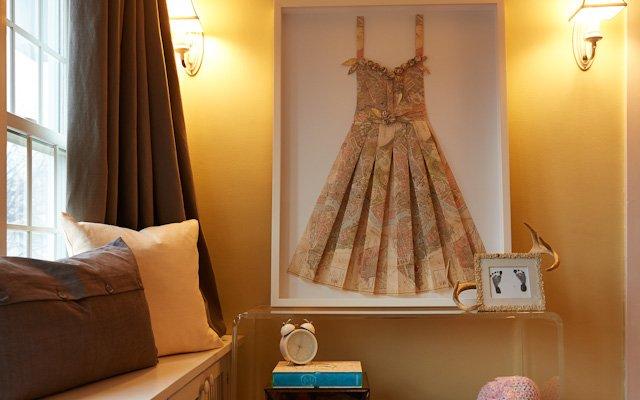 framed map dress
