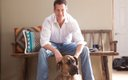 James Denton with his dog