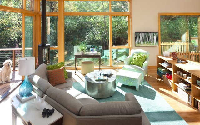 living room with couch and chair