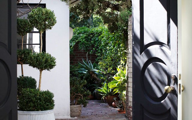 Nate Berkus Doorway and courtyard
