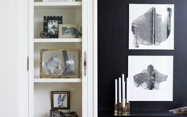 Nate Berkus Alcove and wall art detail