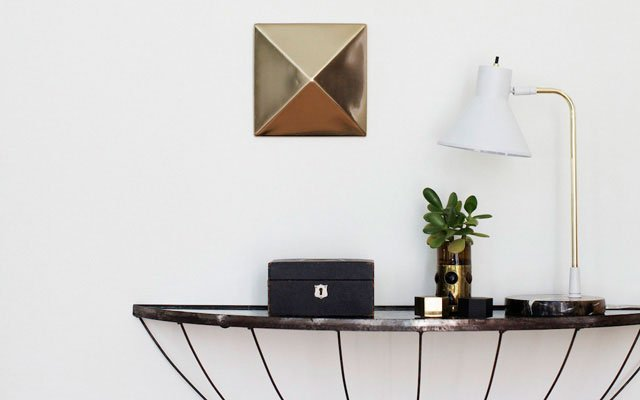 Nate Berkus  Wall stud and lamp detail