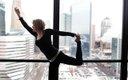 Sharmane Riemer doing yoga