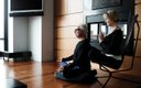 man and worman sitting doing yoga
