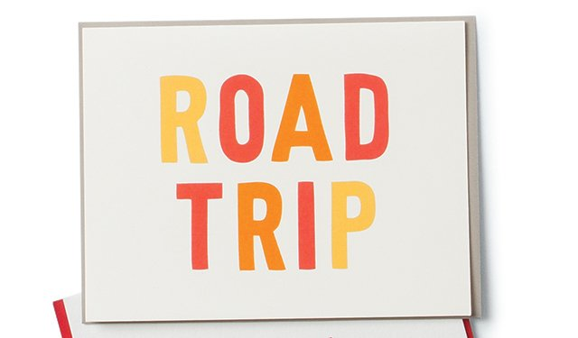 Road Trip note card