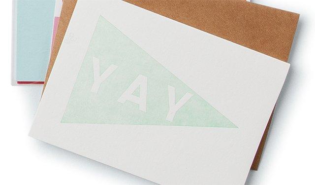 Yay note card