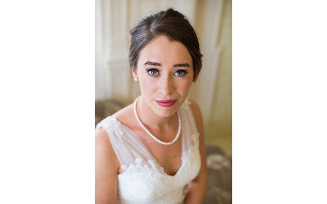 Bride close up portrait