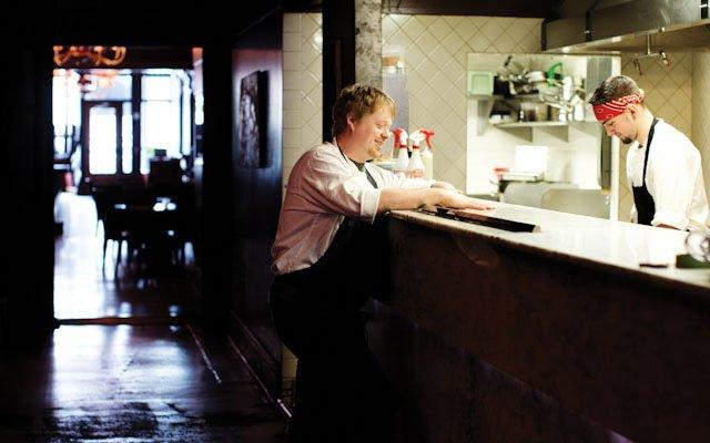 Landon Schoenefeld at Haute Dish.
