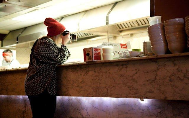 Eliesa Johnson photographing at Haute Dish