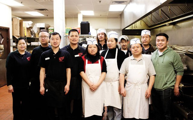 The kitchen staff at Grand Szechuan.
