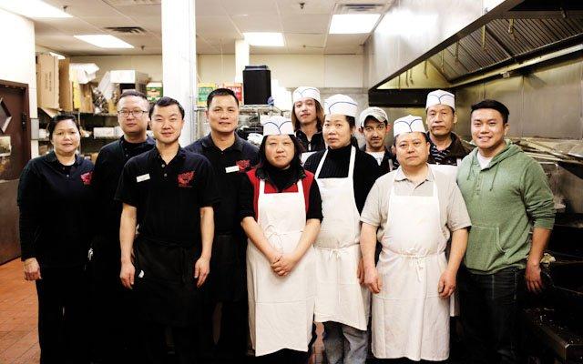 The kitchen staff at Grand Szechuan.