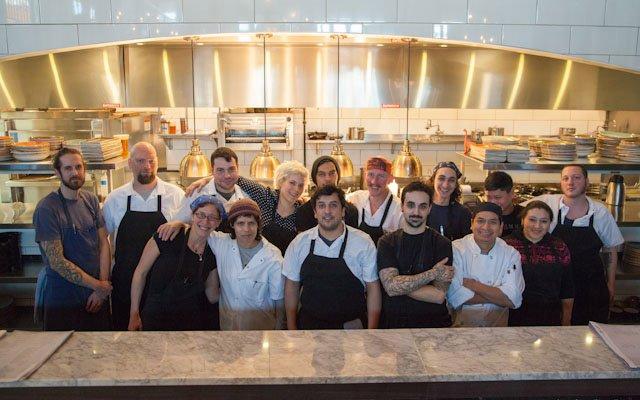The kitchen staff at Coup d'Etat.