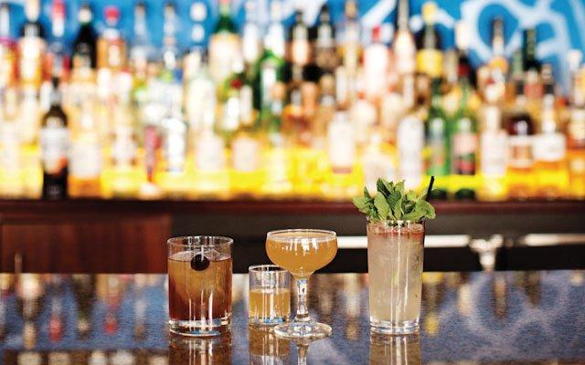 Cocktails at Saffron in Minneapolis.