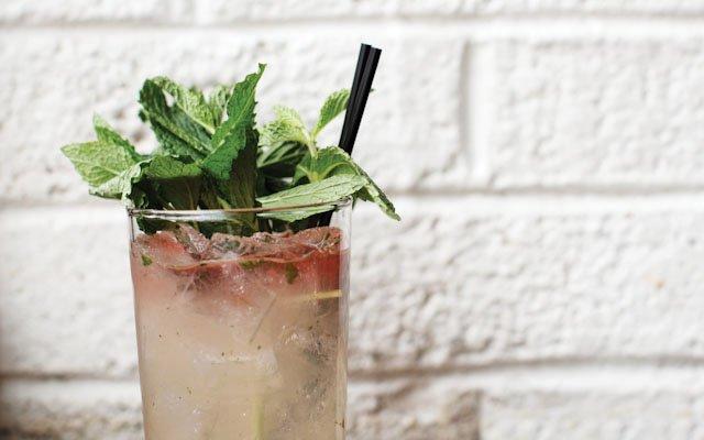 Cocktail at Saffron in Minneapolis.