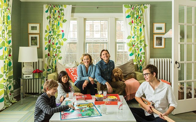 Elizabeth Foy Larsen and family