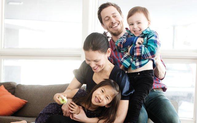 Adam Braun, Kim Sauvageot and family