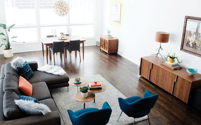 The Braun living room