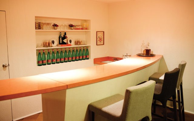 Honeyshine owner Adam Braun's basement bar