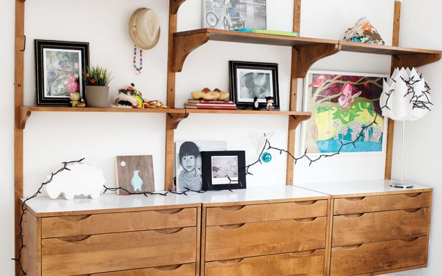 Built-ins in Adam Braun's daughter's bedroom