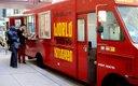World Street Kitchen food truck parked in downtown Minn...