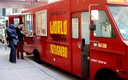World Street Kitchen food truck parked in downtown Minn...