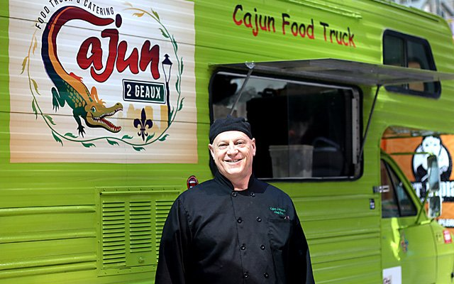 Cajun2Geaux St. paul and Minneapolis lime green food truck