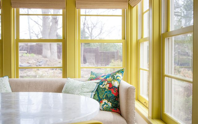 Neon painted Sunroom