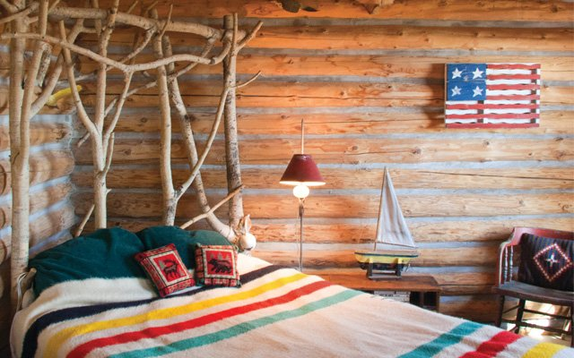 log cabin on Madeline Island