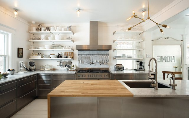 white IKEA and custom cabinetry kitchen
