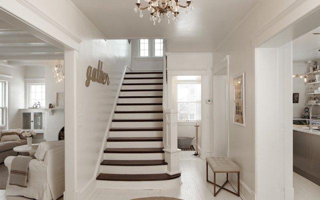 white entryway