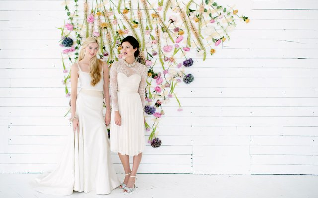Tara LaTour and BHLDN wedding dresses