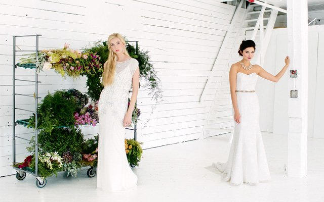 Jenny Packham and Anna Maier wedding dresses