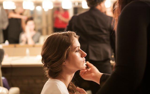 Makeup behind the scenes at Fashionopolis
