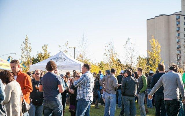 crowd at Harvest Beer Fest