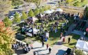 Overhead view of 2014 Harvest Brew Fest
