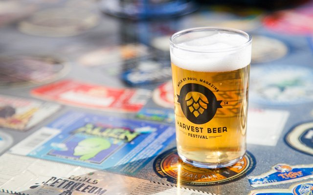 Glass of beer at Harvest Brew Fest