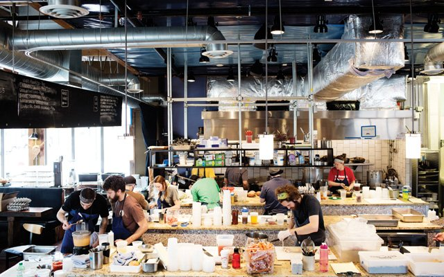 The kitchen at Travail/The Rookery