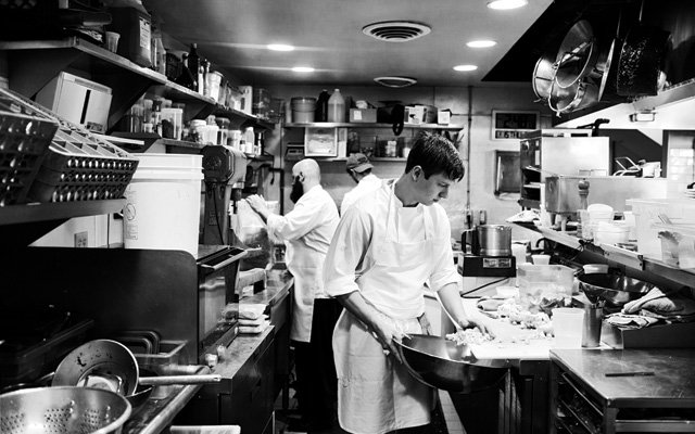 Inside the kitchen of Alma restaurant