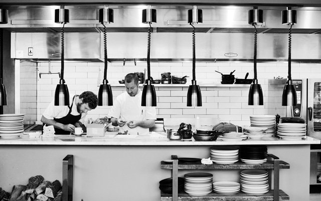 The kitchen at Heyday restaurant